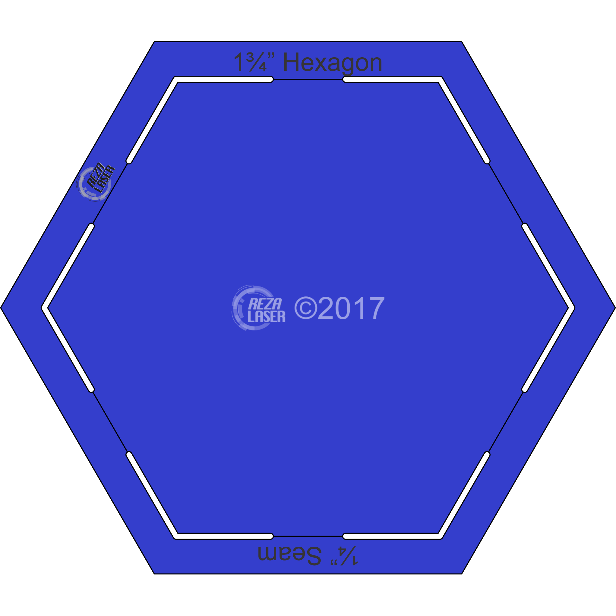 1 5 inch hexagon template - keyhole templates page 3 rezalaser